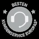 Awarded best customer service of Europe