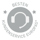 Awarded best customer service of Europe
